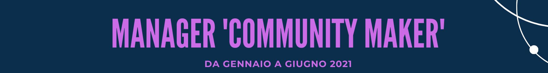 Manager Community Maker